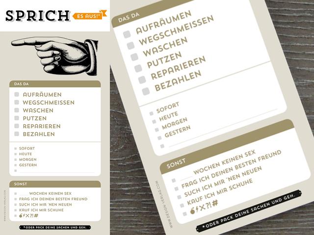 Design Verlag Block Sprich Es Aus