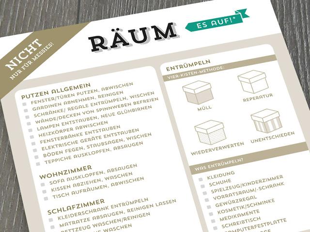 Design Verlag Block Räum Es Auf
