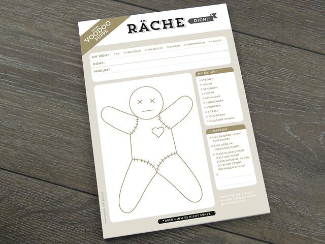 Design Verlag Block Räche Dich