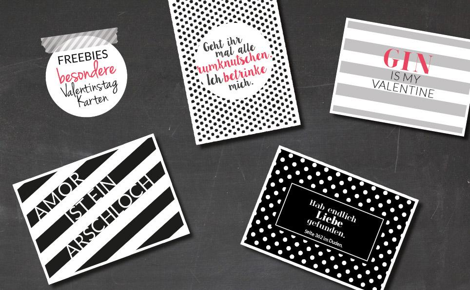 Freebie: Valentinstag-Karten Zum Downloaden & Ausdrucken