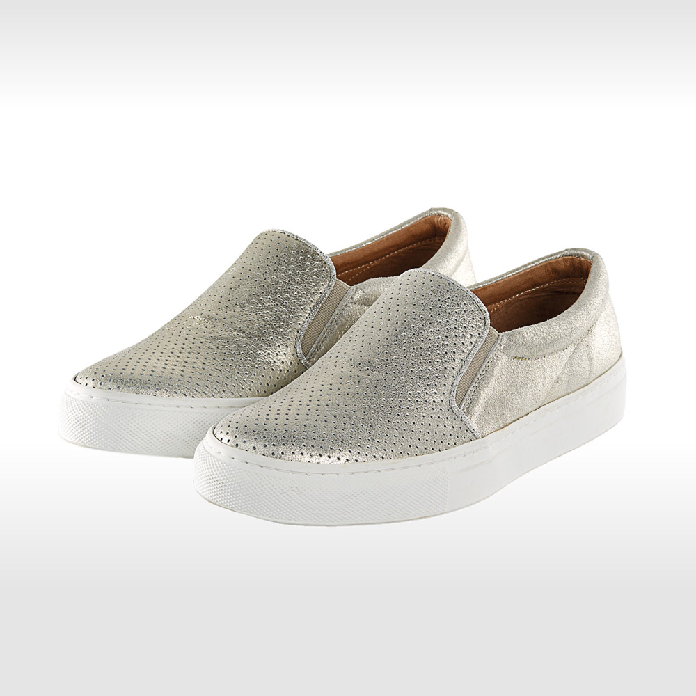 Metallic Schuhe Slipper Slip-ons