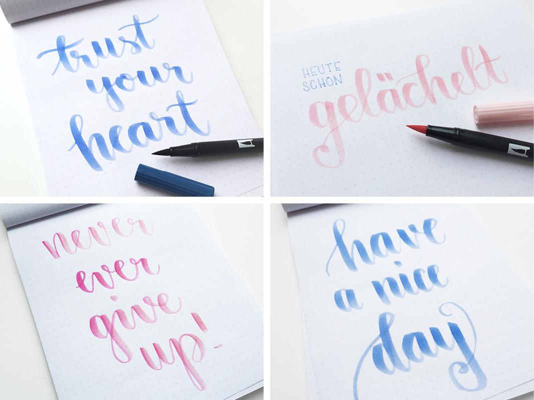 Handlettering – kreatives Schreiben, wie du einfach Lettering ...