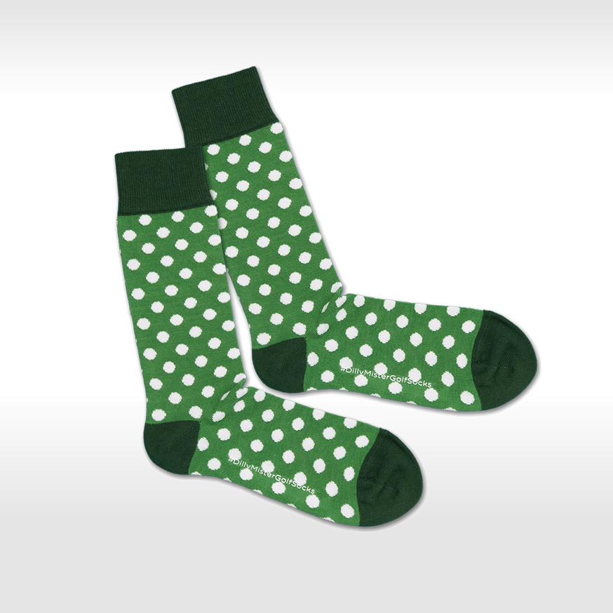 Grün Gepunktet Socken