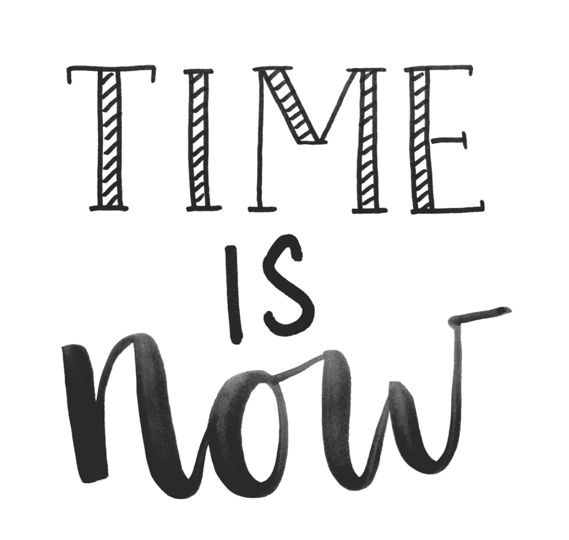 time_is_now_lettern