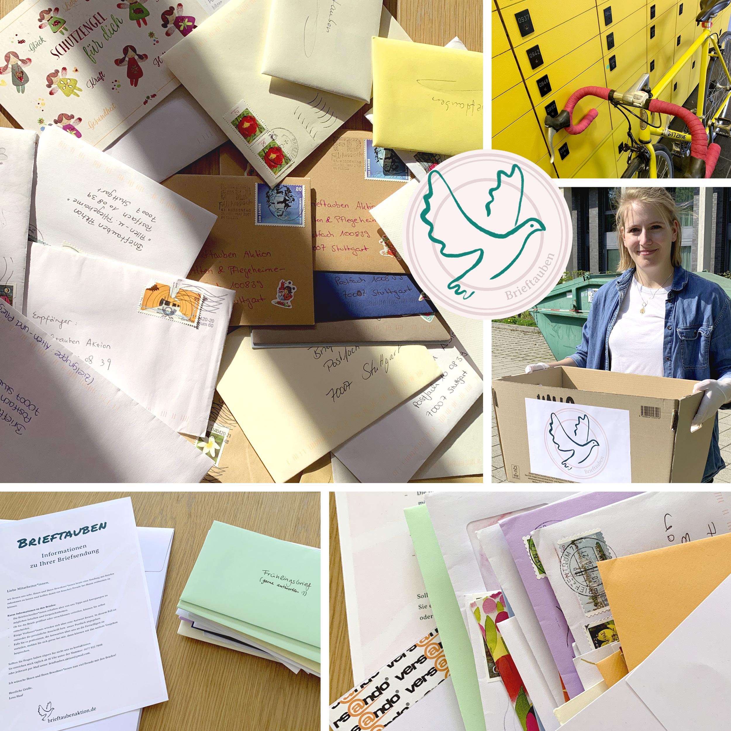 Briefe Schreiben Brieftauben Aktion Post